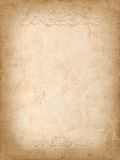 Vintage background from old paper with embossed pattern Stock Photography