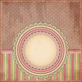 Vintage background. Old paper greeting card. Vector illustration Royalty Free Stock Images