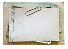 Vintage background with old paper, letters and photos isolated on white Stock Photography