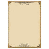 Vintage background on old paper with ornate frame. Vector illustration for text Royalty Free Stock Images