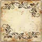 Vintage background old paper, pattern. Vintage design elements on old paper sheet Royalty Free Stock Photo