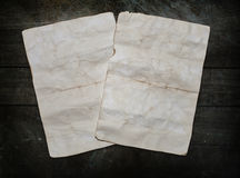 Vintage background with old paper sheets Royalty Free Stock Photography