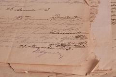 Vintage background with old papers stock photography