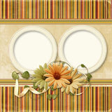 Vintage background with old photo-frame Royalty Free Stock Photo