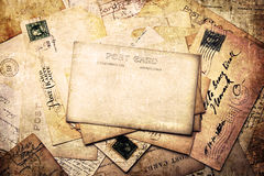 Vintage background from old post cards Royalty Free Stock Photography