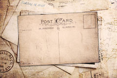 Vintage background from old post cards Stock Image
