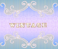 Vintage background with ornament made ​​of pre Royalty Free Stock Photo