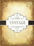 Vintage background with ornamental frame. Stock Photography