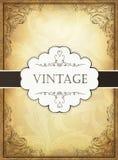 Vintage background with ornamental frame. royalty free illustration