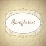 Vintage background with ornamental frame Stock Photo
