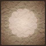 Vintage background with ornamental frame Stock Image
