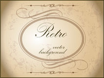 Vintage background with ornamental frame. Royalty Free Stock Photos