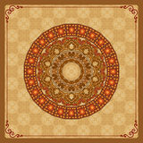 Vintage background with ornamental mandala/rosette Royalty Free Stock Photography