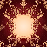Vintage background ornate baroque pattern Stock Photo