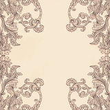 Vintage background ornate baroque pattern Stock Photos