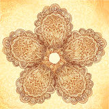 Vintage background with ornate doodle flower Royalty Free Stock Images