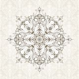 Vintage background with pattern. Ornate lace template for invitation, greeting card, certificate design. Ornament Stock Images