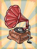 Vintage background with phonograph Stock Photography