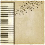 Vintage background with piano. Vector illustration Stock Photos