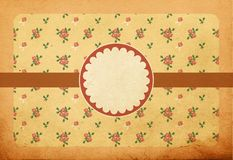 Vintage background with pink roses Royalty Free Stock Image