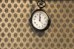 Vintage pocket watch. royalty free stock photography