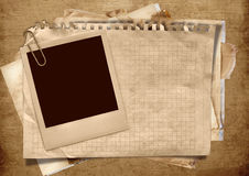 Vintage background with polaroid frame Royalty Free Stock Images