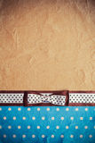 Vintage background with polka dot paper Royalty Free Stock Photos