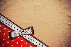 Vintage background with polka dot paper Royalty Free Stock Image