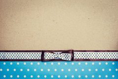 Vintage background with polka dot paper, old paper and brown and Stock Photo