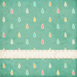 Vintage background. Polka dot, raindrops Stock Photography