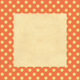 Vintage background, polka dot style Stock Photo