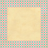Vintage background, polka dot style Royalty Free Stock Photo