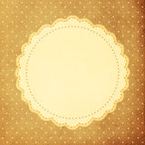 Vintage background, polka dot style Royalty Free Stock Image