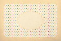 Vintage background, polka dot style Stock Images