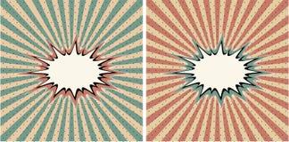 Vintage background pop art halftone cartoon template vector illustration