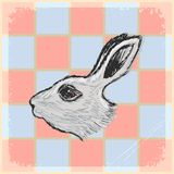 Vintage background with rabbit Royalty Free Stock Photography