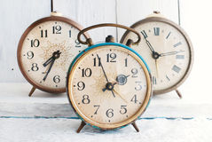 Vintage Background - Rarity alarm Clock. Time Concept. Retro Objects Royalty Free Stock Photo