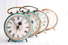 Vintage Background - Rarity alarm Clock. Time Concept. Retro Objects Stock Photography