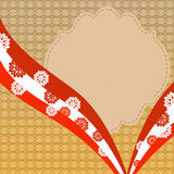 Vintage background with red lace Royalty Free Stock Photos