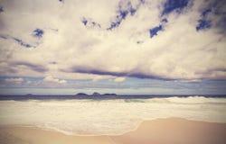 Vintage background. Retro beach in Rio de Janeiro, Brazil Royalty Free Stock Photos