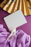 Vintage background with retro  fan Stock Image