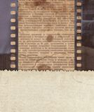 Vintage background with retro paper, newspaper and old film stri Royalty Free Stock Photos