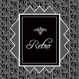 Vintage background. Retro style frame of 1920s. Vector illustration in silver colors Royalty Free Stock Photo