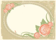 Vintage background with roses. Stock Images