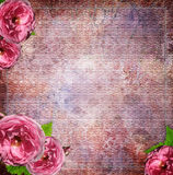 Vintage  background with roses Royalty Free Stock Image