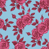 Vintage background with roses Stock Images