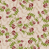 Vintage background with roses - Illustration Royalty Free Stock Images