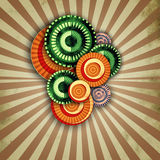 Vintage background with round pattern Royalty Free Stock Image