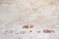 Vintage background. Rugged stucco  white painted wall surface texture. Stock Photo