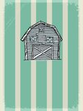 Vintage background with rural motive Royalty Free Stock Image